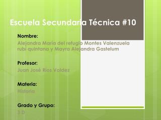 Escuela Secundaria Técnica #10