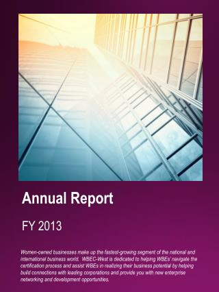 Annual Report FY 2013