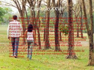 Capitulo XXVII