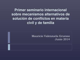 Mauricio Valenzuela Gruesso Junio 2014