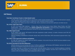 SAP History From Start-Up Software Vendor to Global Market Leader