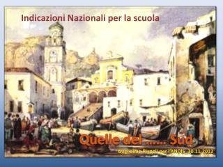 Indicazioni Nazionali per la scuola