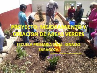 PROYECTO: MEJORAMIENTO Y CREACION DE AREAS VERDES