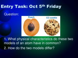 Entry Task: Oct 5 th  Friday