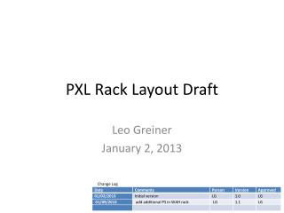 PXL Rack Layout Draft
