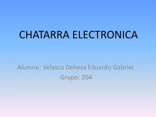 CHATARRA ELECTRONICA