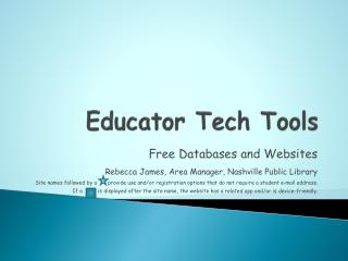 Educator Tech Tools