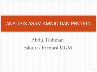 Lecture 6' Protein metabolism - PowerPoint PPT Presentation