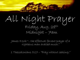 All Night Prayer