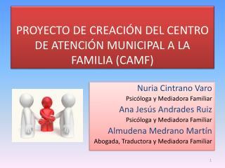 PROYECTO DE CREACIÓN DEL CENTRO DE ATENCIÓN MUNICIPAL A LA FAMILIA (CAMF)
