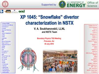 XP 1045: �Snowflake� divertor  characterization in NSTX