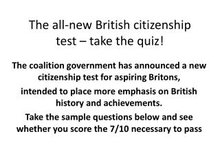 The all-new British citizenship test – take the quiz!
