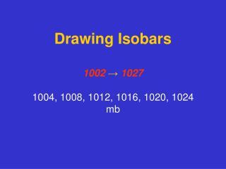Drawing Isobars
