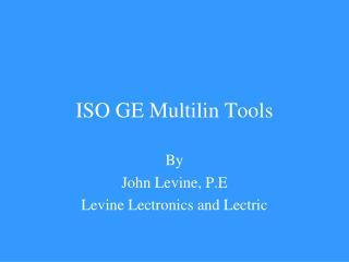 ISO GE Multilin Tools