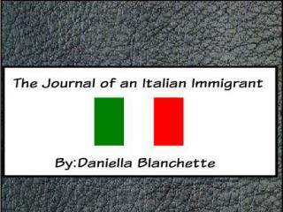 Daniella is an eleven year old Italian girl who came to the US at the turn of the century.