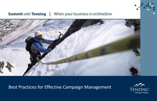Best Practices for Effective Campaign Management