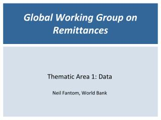Global Working Group on Remittances