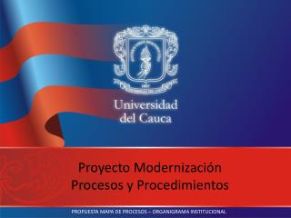 Proyecto Modernización Procesos y Procedimientos