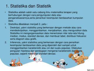 1.  Statistika dan Statistik