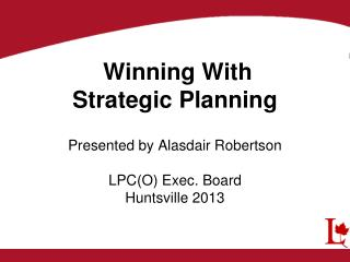 Why a Strategic Plan?