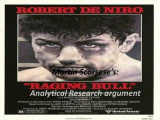 Martin  Scorsese's :  Analytical Research argument By: Charles  Erd