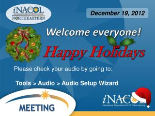 Welcome everyone! Happy Holidays