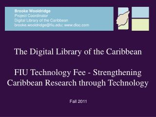 The  Digital Library of the Caribbean