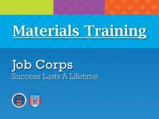 Materials Training