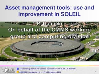 Asset management tools: use and improvement in SOLEIL