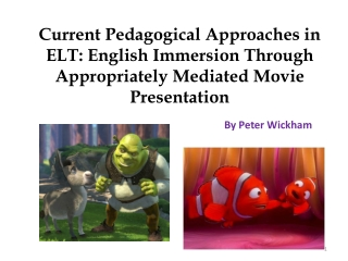APPROACHES  IN ELT