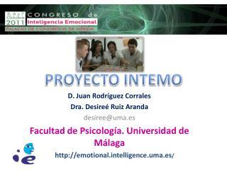 D. Juan Rodríguez Corrales Dra .  Desireé  Ruiz Aranda desiree@uma.es