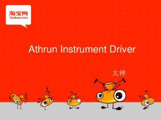 Athrun  Instrument Driver