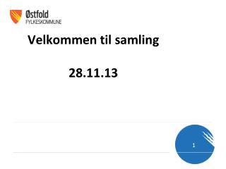 Velkommen til samling 28.11.13