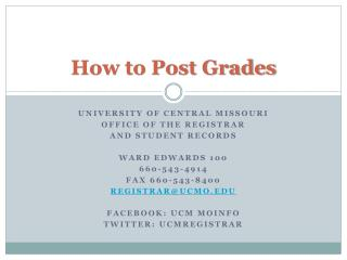 How to Post Grades