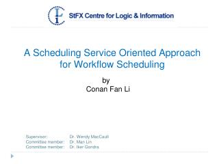 A Scheduling Service Oriented Approach for Workflow Scheduling