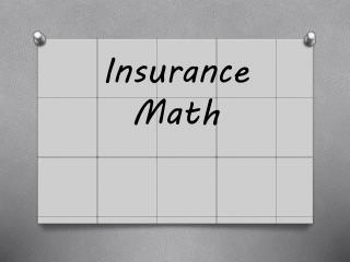 Insurance Math