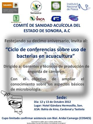COMITÉ DE SANIDAD ACUÍCOLA DEL  ESTADO DE SONORA, A.C
