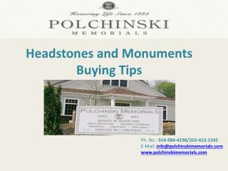 Headstones and Monuments Buying Tips