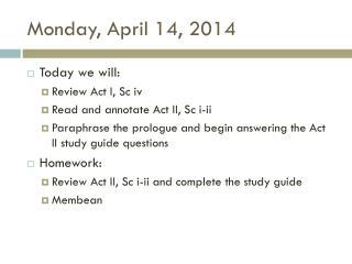 Monday, April 14, 2014