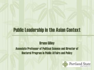 Public Leadership in the Asian Context