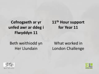 11 th  Hour support for Year 11 What worked in London Challenge