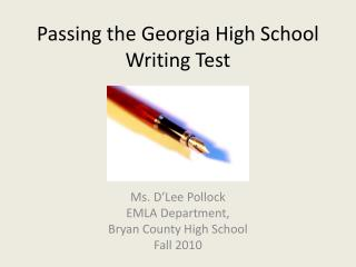Passing the Georgia High School Writing Test