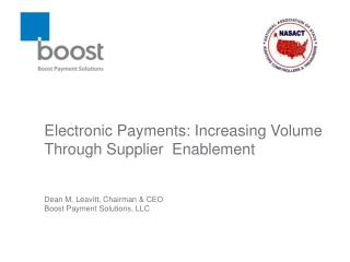 Electronic Payments: Increasing Volume Through Supplier  Enablement