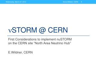n STORM @ CERN