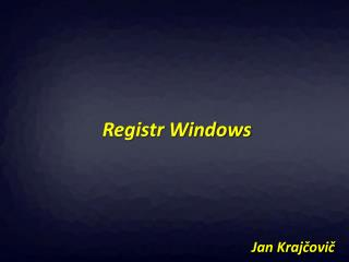 Registr Windows