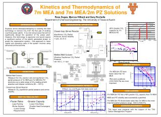 Kinetics and Thermodynamics of