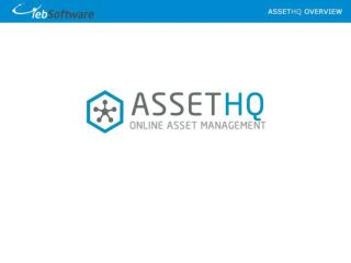 AssetHQ –  Maintenance Management