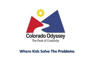 Where Kids Solve The Problems