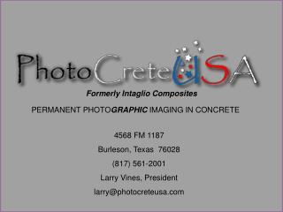 PERMANENT PHOTOGRAPHIC IMAGING IN CONCRETE