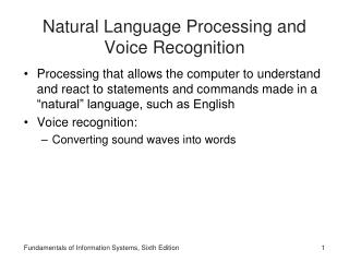 Natural Language Processing and Voice Recognition